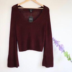 💜 XXI Knitted Sweater Burgundy